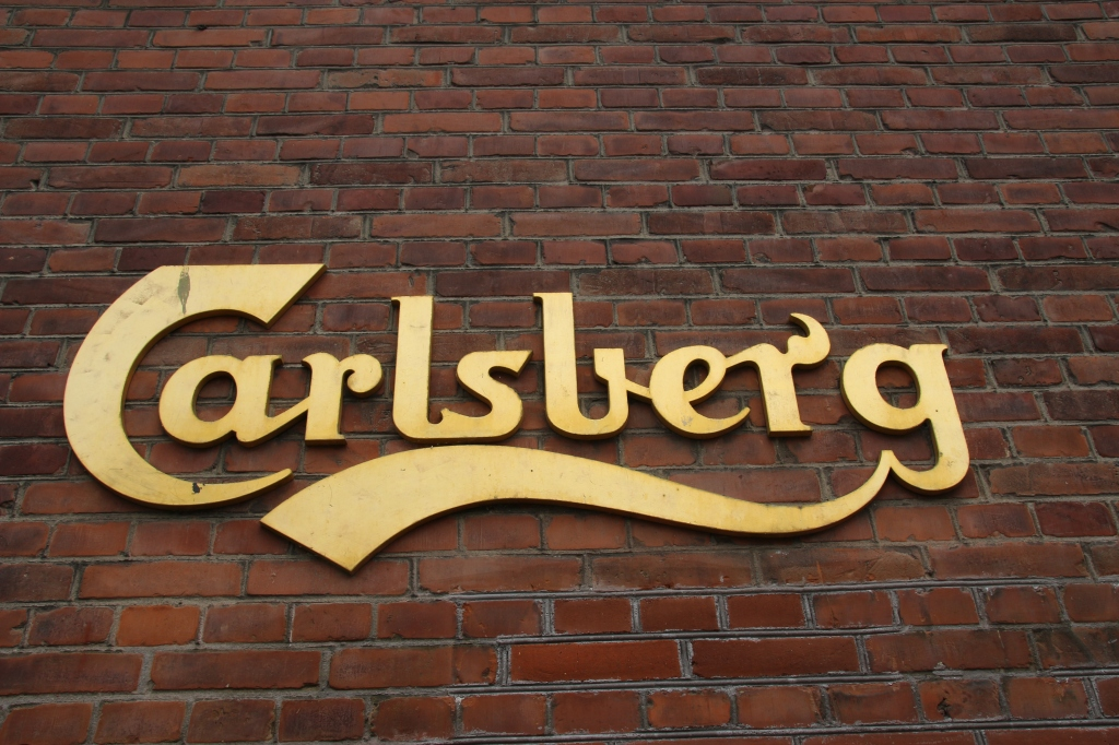 Carlsberg sign at Visit Carlsberg in Copenhagen, Denmark