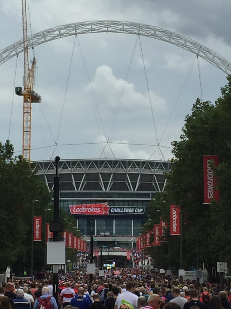 Wembley Stadium from Wembley Way