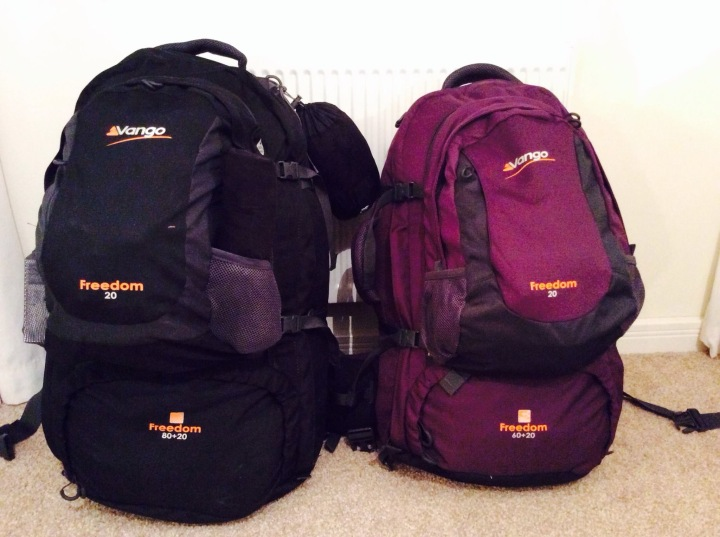 Overpacked backpacks