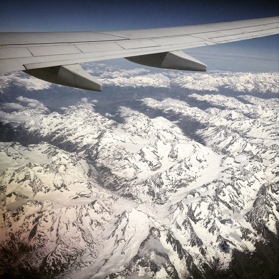 Flight over The Alps
