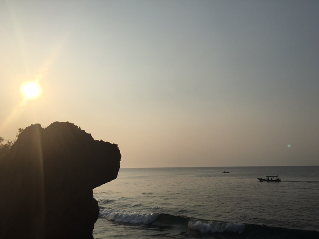 Sun setting at The Rock Bar, Bali