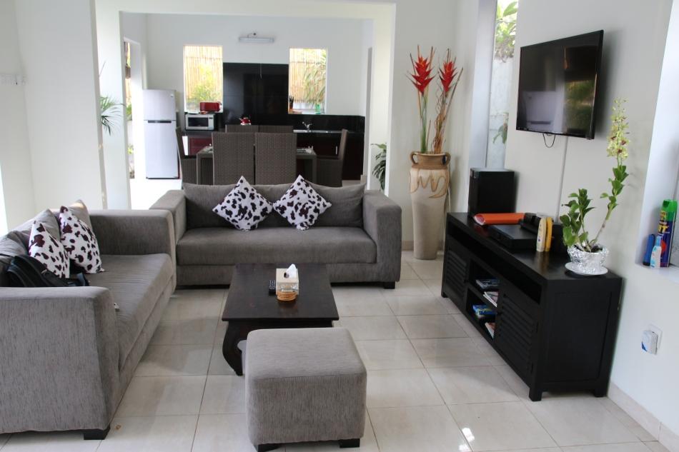 Kitchen/dining/living area at Bahagia Villas, Sanur, Bali