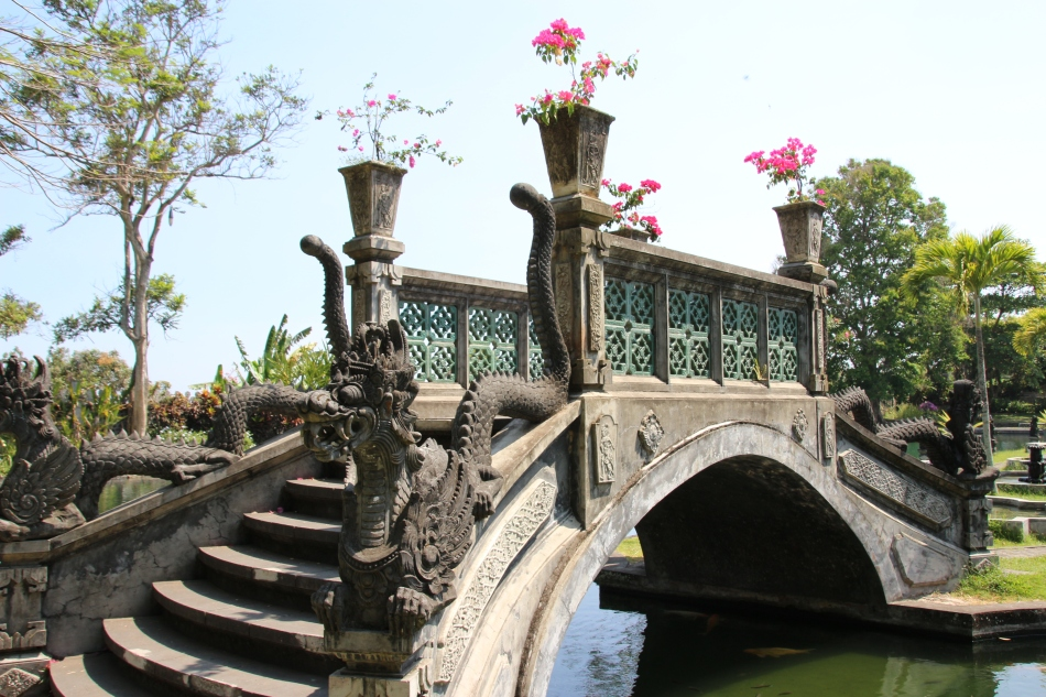 Bridge at Tirta Gangga Water Palace, Bali