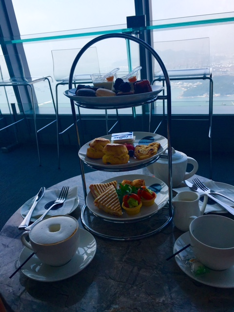 Afternoon Tea at Sky 100 Observation Deck, Hong Kong