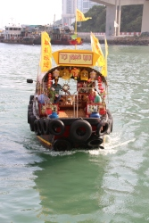 Sampan ride in Hong Kong