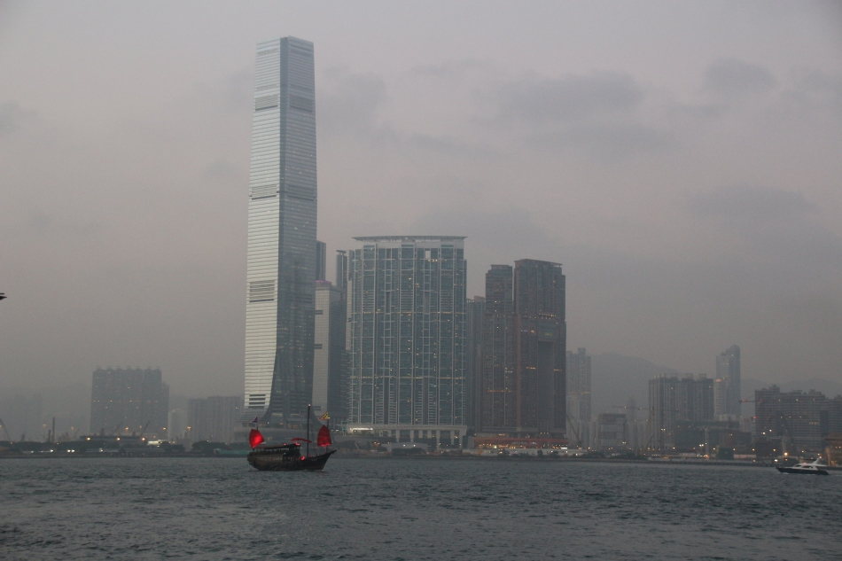 Kowloon skyline from Hong Kong Island