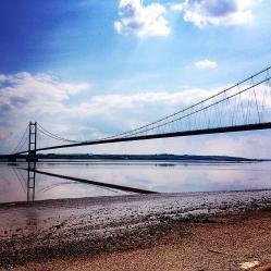Humber Bridge spanning Hessle to Barton upon Humber