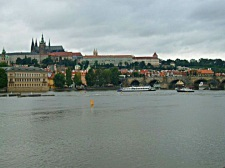 Prague castle from the waterfront