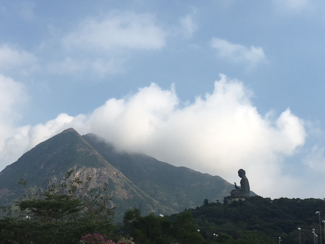 The Big Buddha from the cable car