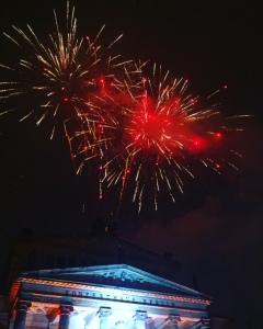 Fireworks at Gendarmenmarkt Christmas Market