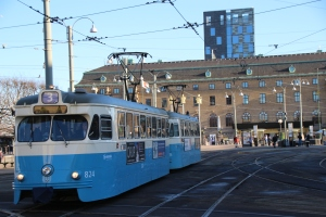 Tram at Gothenburg Central Station