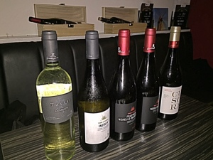 Wine tasted in the order shown