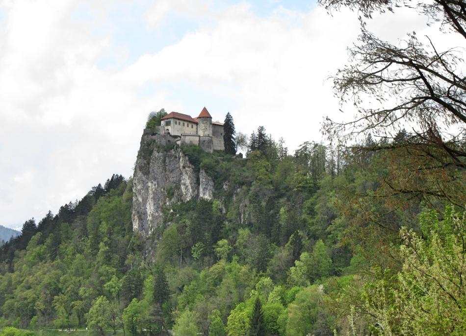 Bled Castle on the hillside, Bled