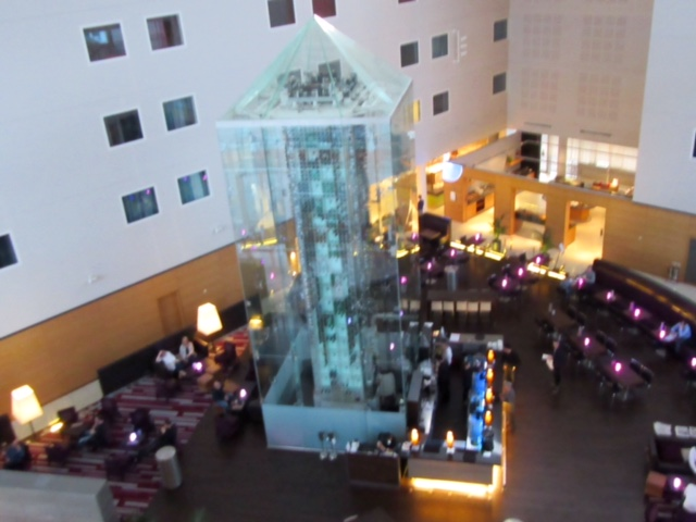 Wine Tower at the Radisson Blu Stansted Airport Hotel