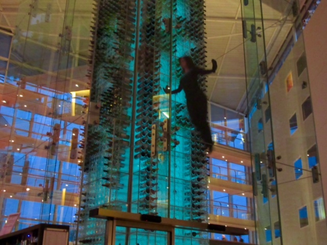 Acrobatics in the Wine Tower at Radisson Blu London Stansted Airport Hotel