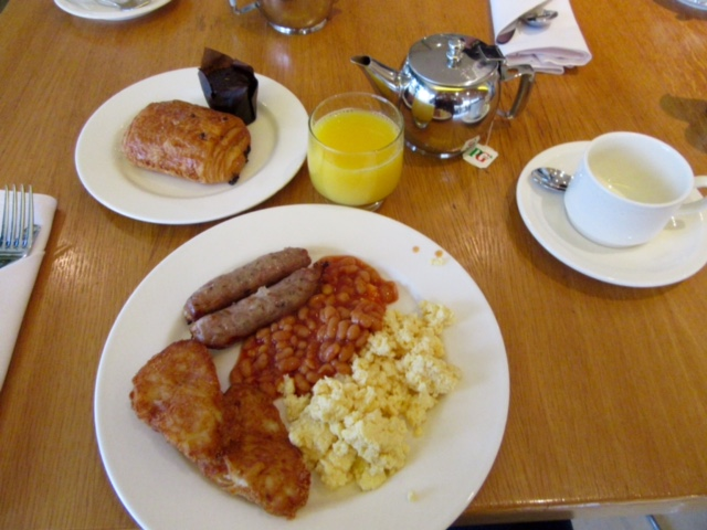 Full English Breakfast at the Radisson Blu London Stansted Airport Hotel