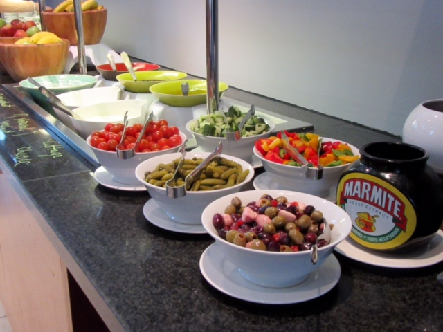 Healthier options also available on the Radisson Blu London Stansted Airport Hotel's breakfast buffet