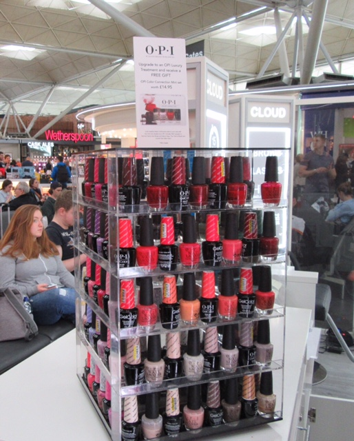 Lots of choice when it comes to colour at Cloud Spa Stansted Airport