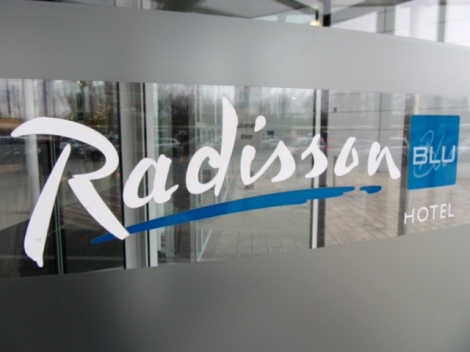 Radisson Blu London Stansted Airport Hotel door sign