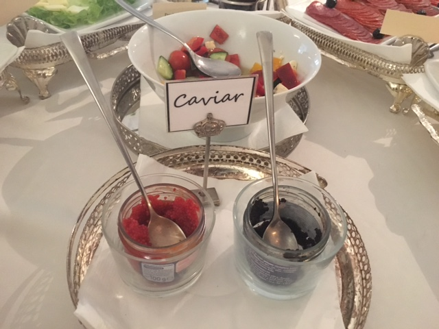Caviar for breakfast at the Antiq Palace Hotel & Spa, Ljubljana