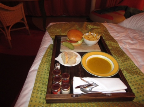 Yummy Room Service at the Radisson Blu London Stansted Airport Hotel