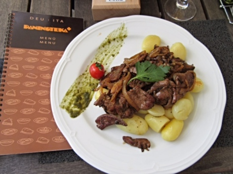 Calves' Liver & Potato - a traditional Slovenian meal