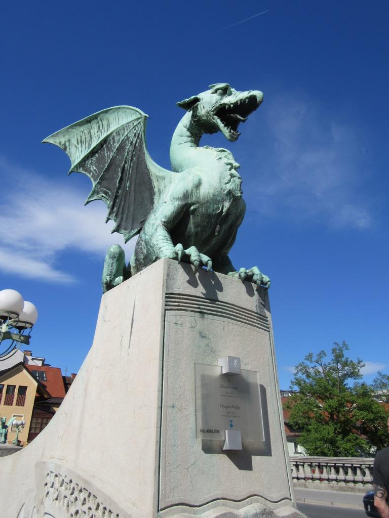 Dragon on Dragon Bridge, Ljubljana