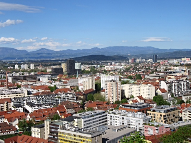 Views of Ljubljana from the Castle
