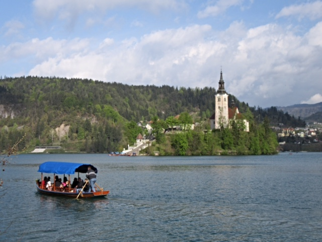 Island in the middle of Lake Bled