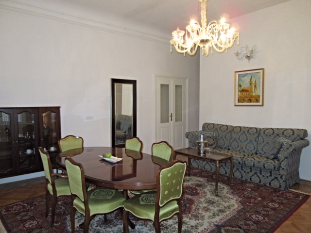 Living area in our suite at the Antiq Palace Hotel & Spa, Ljubljana