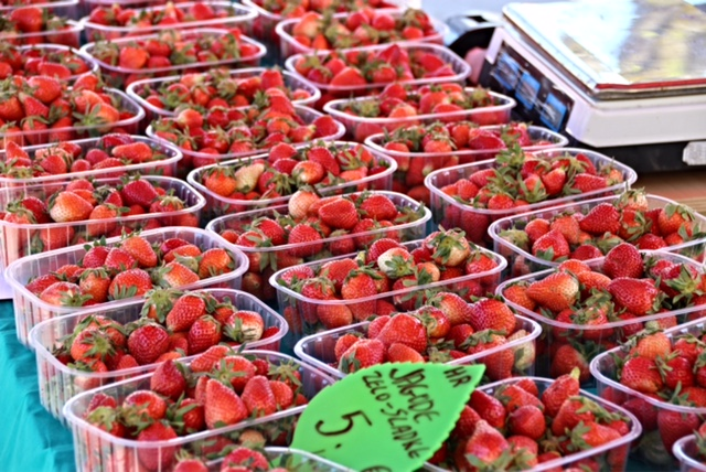 Strawberries at the Farmers Market, Ljubljana