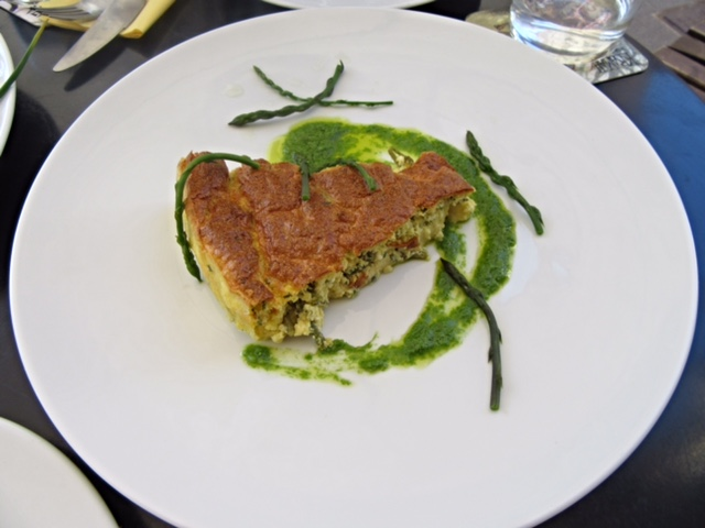 Asparagus & cottage cheese flan in Ljubljana