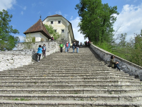 99 stone steps on Bled Island