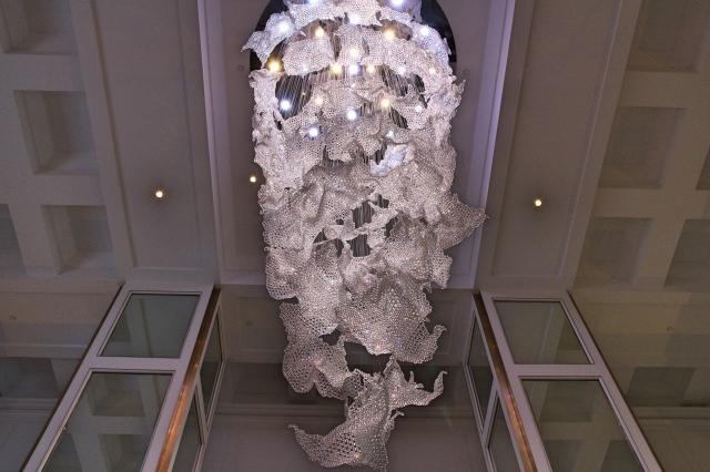 Chandelier at Taj Dubai Hotel