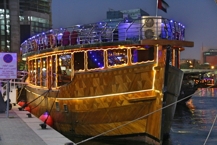Our Dhow on The Dubai Creek
