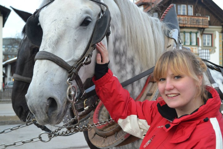 Emily with Horse in Austria
