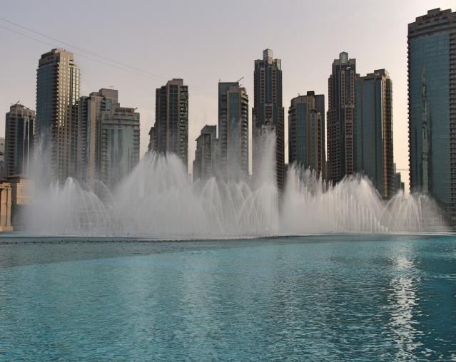 Dubai Fountain at the Dubai Mall