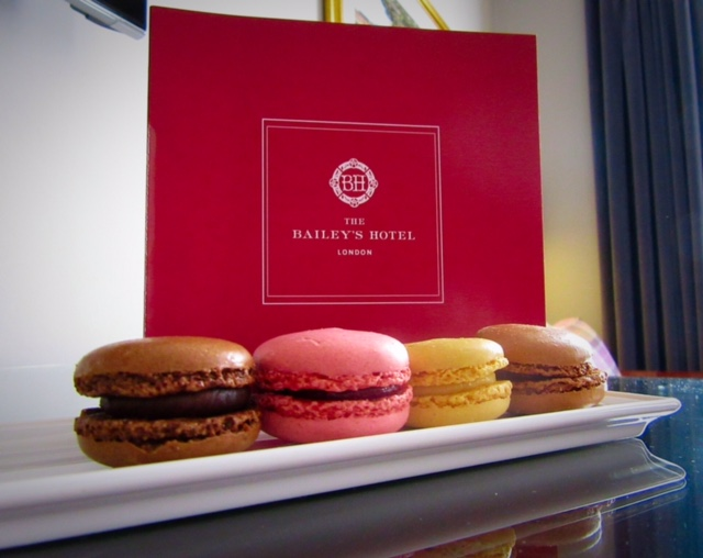 Macaroons at The Bailey's Hotel, London