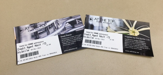 Tickets for At The Top - Burj Khalifa