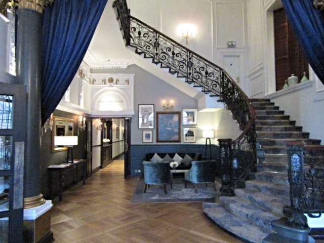 The reception area at The Bailey's Hotel, London