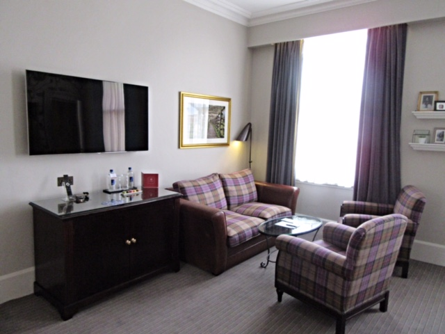 Seating are in our room at The Bailey's Hotel, London
