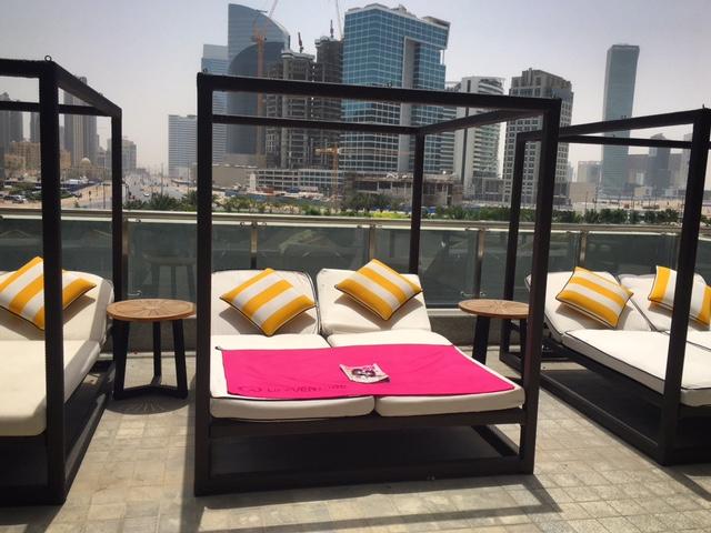 Sun loungers at Taj Dubai Hotel