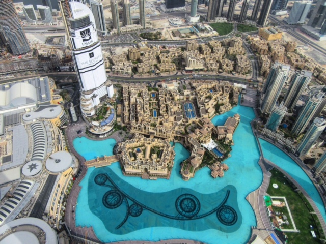 Dubai Fountain from The Burj Khalifa