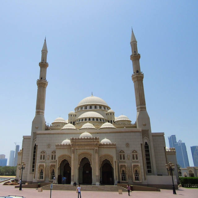 One of the many mosques in Sharjah