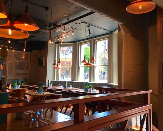 Seating area at Banyan Bar & Kitchen, Leeds