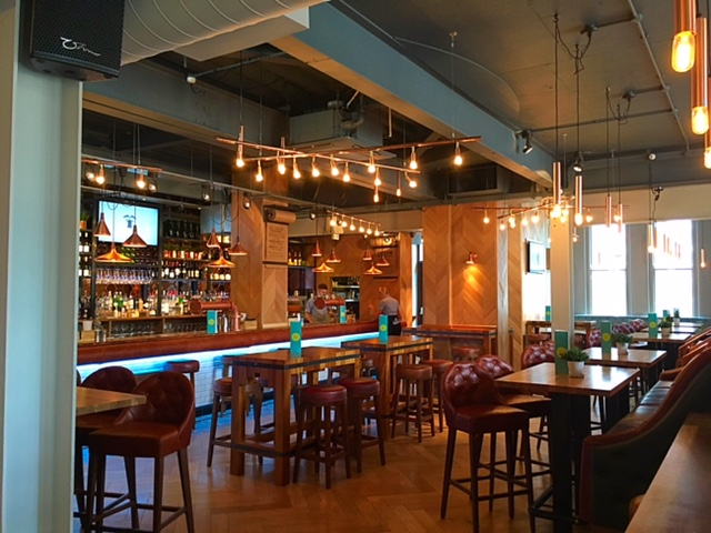 Bar area at Banyan Bar & Kitchen, Leeds