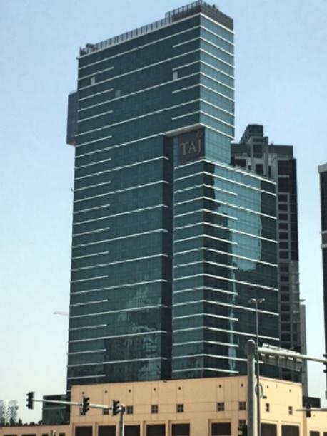 Taj Dubai Hotel from the Street