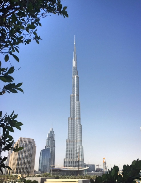 View of the Burj Khalifa from Taj Dubai Hotel