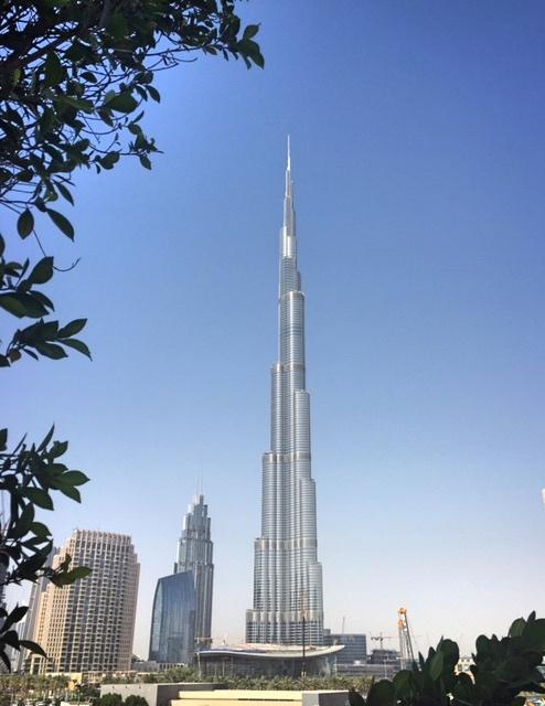 View of the Burj Khalifa from Taj Dubai Hotel