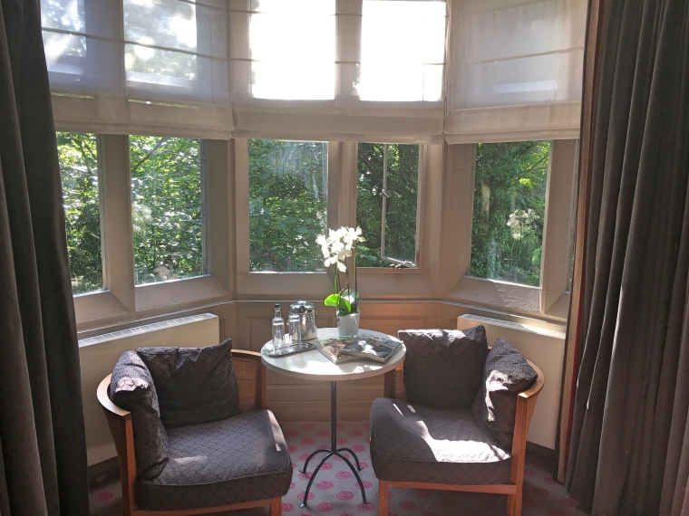 Bay Window Letting in Lots of Light in our Room at Jesmond Dene House